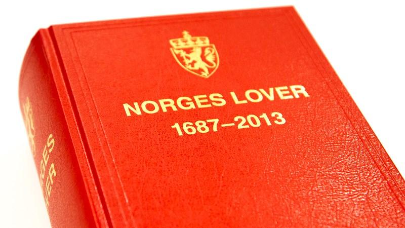 Boken «Norges lover» utgis hvert år av Det juridiske fakultet ved Universitetet i Oslo og Fagbokforlaget. Teksten leveres av Lovdata. Foto: JD